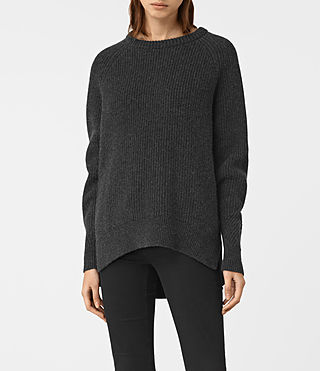 Womens Patty Sweater (Cinder Black Marl)