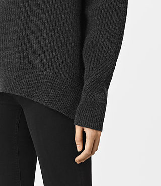 Womens Patty Sweater (Cinder Black Marl) - product_image_alt_text_3