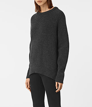 Womens Patty Sweater (Cinder Black Marl) - product_image_alt_text_4