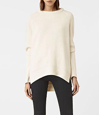 Womens Patty Sweater (Chalk White)
