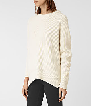 Womens Patty Sweater (Chalk White) - product_image_alt_text_3