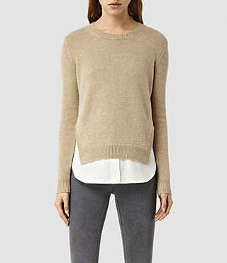 Womens Wick Sweater (SAND BROWN)