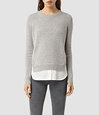 Womens Wick Sweater (MIRAGE GREY)