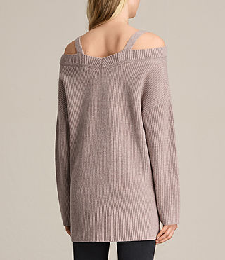 Damen Dasha V-Neck Jumper (QUARTZ PINK MARL) - product_image_alt_text_5