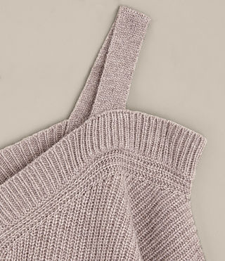 Damen Dasha V-Neck Jumper (QUARTZ PINK MARL) - product_image_alt_text_7