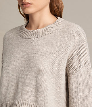 Donne Pullover Haisey (Oat marl) - product_image_alt_text_3