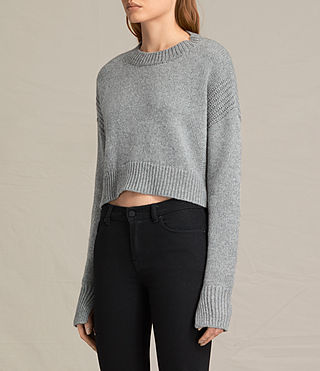 Femmes Pull  Haisey (Light Grey Marl)