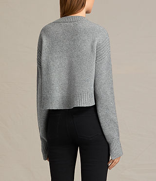 Womens Haisey Sweater (Light Grey Marl) - product_image_alt_text_4