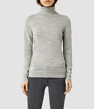Womens Albar Roll Neck Sweater (MIRAGE GREY)