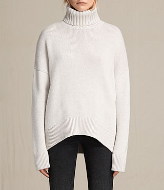 Womens Veda Roll Neck Sweater (PORCELAIN WHITE)