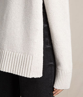 Women's Veda Roll Neck Jumper (PORCELAIN WHITE) - product_image_alt_text_2
