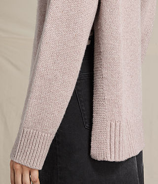 Womens Veda Roll Neck Sweater (QUARTZ PINK MARL) - product_image_alt_text_2