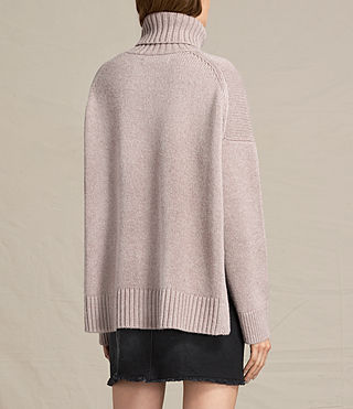 Womens Veda Roll Neck Sweater (QUARTZ PINK MARL) - product_image_alt_text_4