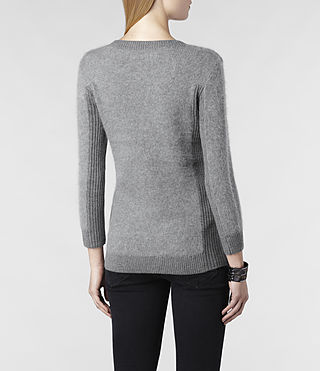 Womens Jairdan V-neck Sweater (Grey Marl) - product_image_alt_text_3