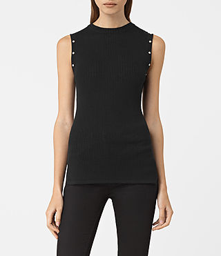 Women's Rossa Merino Top (Black)