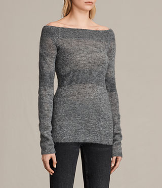 Femmes Pull Armor (Pebble Grey) - product_image_alt_text_2