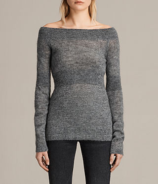 Womens Armor Sweater (Pebble) - product_image_alt_text_1