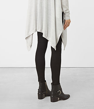 Womens Benton Cape Sweater (Stone Grey) - product_image_alt_text_2
