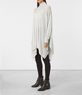 Women's Benton Cape Jumper (Stone Grey) - product_image_alt_text_3