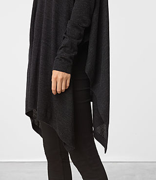 Mujer Benton Cape Sweater (Cinder Black Marl) - product_image_alt_text_2