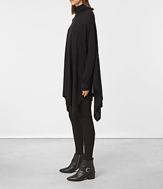 Mujer Benton Cape Sweater (Cinder Black Marl) - product_image_alt_text_3