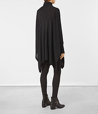 Womens Benton Cape Sweater (Cinder Black Marl) - product_image_alt_text_4