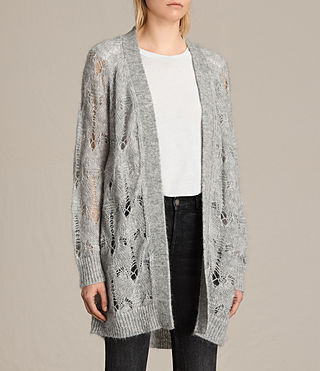 Donne Cardigan Kisa (Light Grey Marl) - product_image_alt_text_2