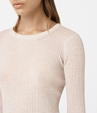 Women's Vanto Crew Neck Top (ALMOND PINK MARL) - product_image_alt_text_2