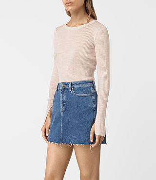 Women's Vanto Crew Neck Top (ALMOND PINK MARL) - product_image_alt_text_3