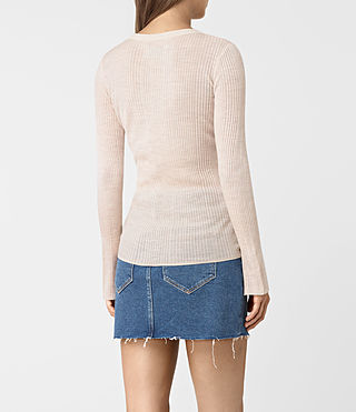 Women's Vanto Crew Neck Top (ALMOND PINK MARL) - product_image_alt_text_5