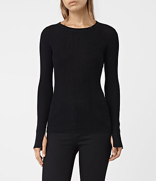 Women's Vanto Crew Neck Top (Black)
