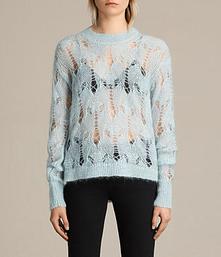 Womens Kisa Cropped Jumper (PASTEL BLUE) - product_image_alt_text_1
