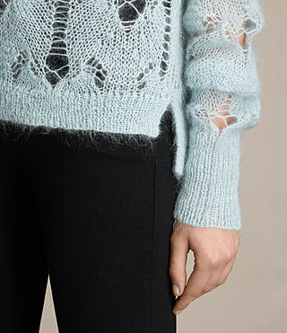 Womens Kisa Cropped Jumper (PASTEL BLUE) - product_image_alt_text_2