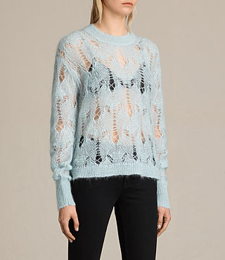 Womens Kisa Cropped Jumper (PASTEL BLUE) - product_image_alt_text_3