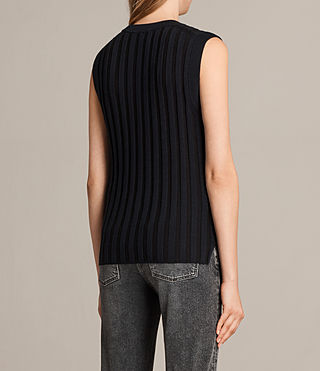 Women's Kait Knitted Tank (Ink Blue/Black) - Image 3