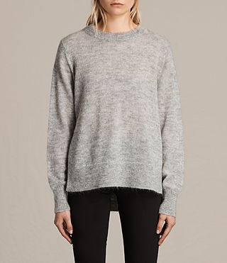 Women's Veny Jumper (Light Grey Marl) -