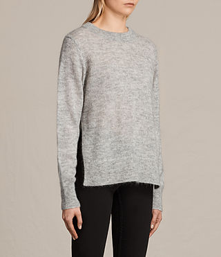 Womens Veny Jumper (Light Grey Marl) - product_image_alt_text_3