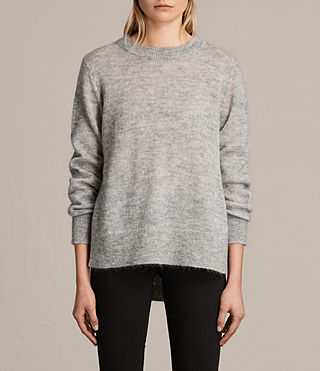 Womens Veny Jumper (Light Grey Marl) - product_image_alt_text_4