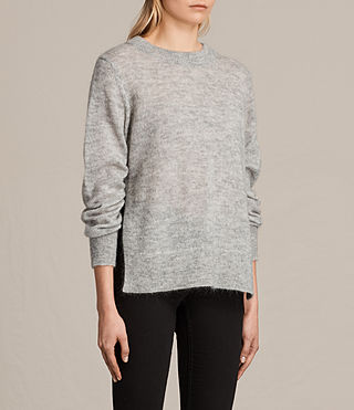 Womens Veny Jumper (Light Grey Marl) - product_image_alt_text_5