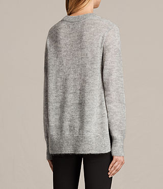 Womens Veny Jumper (Light Grey Marl) - product_image_alt_text_6