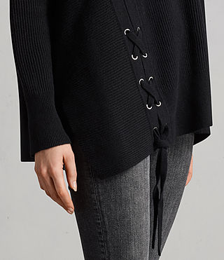 Donne Maglione Able Laced (Black) - Image 2