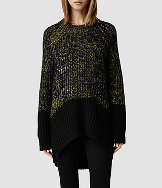 Womens Loxton Sweater (Black/Yellow)