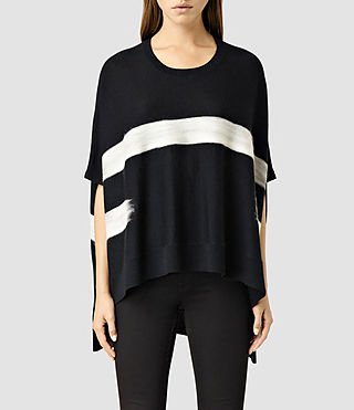 Womens Punch Cape (BLACK/CHALK)
