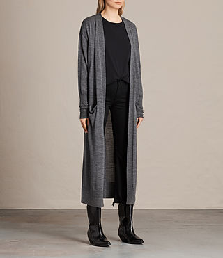 Femmes Cardigan Amai (Charcoal/Grey Marl) - product_image_alt_text_2