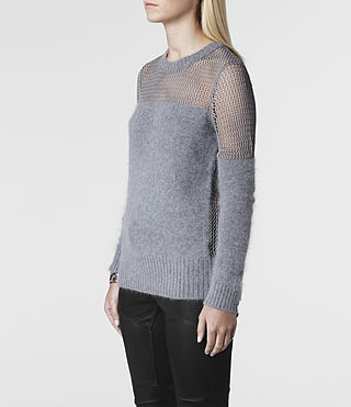 Womens Minako Mesh Sweater (Ink) - product_image_alt_text_2