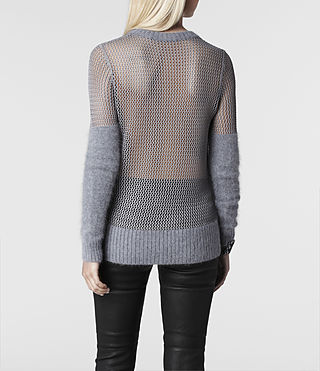 Womens Minako Mesh Sweater (Ink) - product_image_alt_text_3