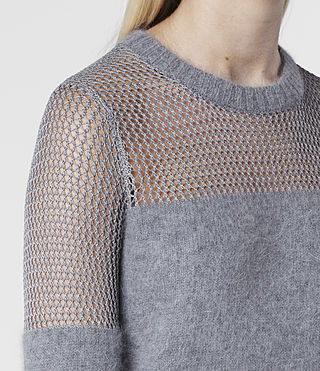 Womens Minako Mesh Sweater (Ink) - product_image_alt_text_4