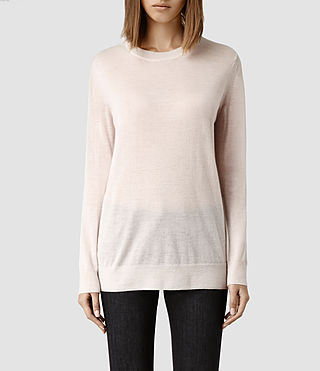 Womens Ortega Boyfriend Sweater (Pale Pink)