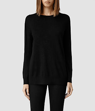 Womens Ortega Boyfriend Sweater (Black) - product_image_alt_text_1