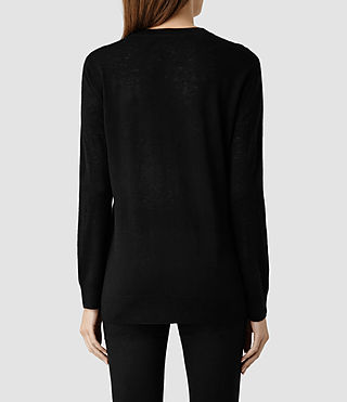 Womens Ortega Boyfriend Sweater (Black) - product_image_alt_text_3